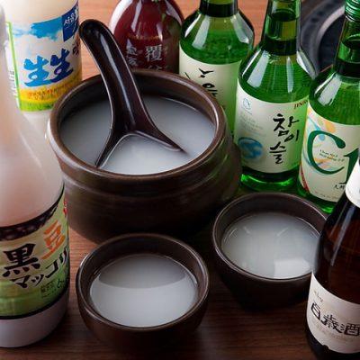 赤坂の韓国料理『やさい村大地 赤坂本店』で韓国酒