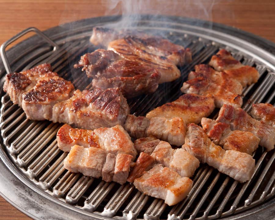 赤坂の韓国料理店【やさい村大地 赤坂本店】で人気の食べ放題セット